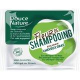 Douce Nature Fiore di Shampoo - Shampoo Solido per Capelli Grassi con Ortica, Karitè e Argilla Verde 85 gr
