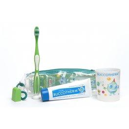 Buccotherm Kit igiene orale dei  Bambini, Dentifricio alla Menta, Eau Thermale Castéra-Verduzan