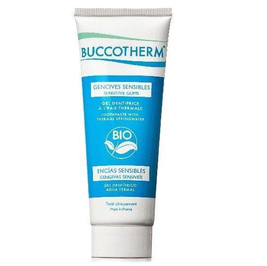 Buccotherm Dentifricio Gel Gengive Sensibile Bio senza fluoro, con Eau Thermale de Castéra-Verduzan 75ml