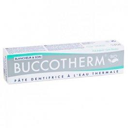 BUCCOTHERM Dentifricio Sbiancante e Curativo Bio,con Eau Thermale de Castéra - Verduzan 75 ml